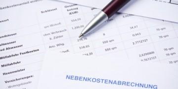 Abrechnung der Mietnebenkosten